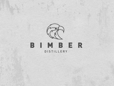 Bimber Distillery  brand branding logo moonshine alcohol identity eagle distillery typography