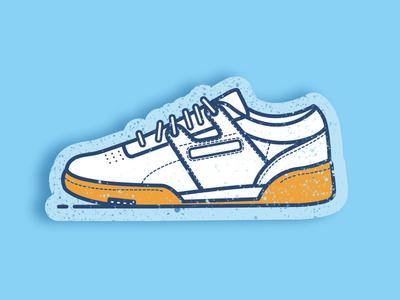 Reebok workout sports workout shoe line icon