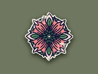 Tattoo flower Icon