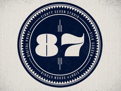 87 Studio brand logo identity type