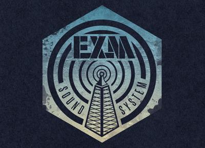 Exm Sound System logo brand type identity