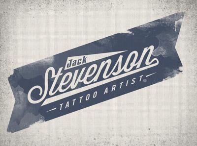 Jack Stevenson  type logo identity typography banner