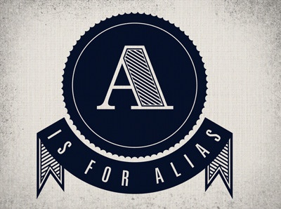 A Is For Alias brand logo identity type
