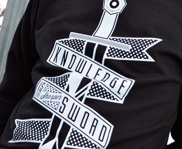 Sharper sword - Off Key Clothing logo banner brand type icon