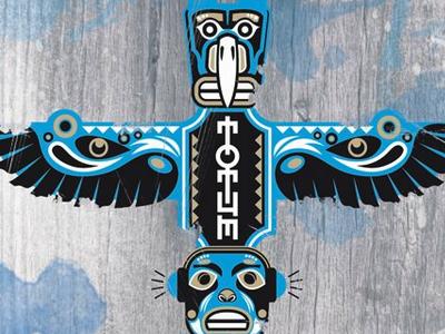 Totum Flyer Illustration logo brand type identity illustration colour