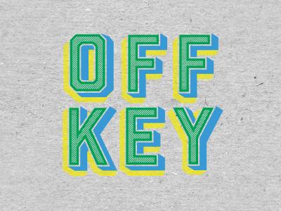 Off Key Clothing - Type type logo typography