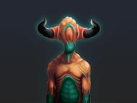 Horned Creature Portrait