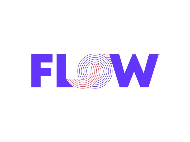Flow logo icon website flat typography minimal vector branding design awesome