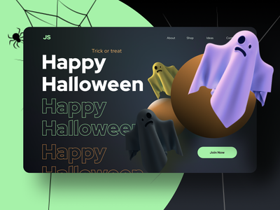 Happy Halloween 2020 concept web design website ghosts ghost spooky halloween party halloween design halloween bash halloween web ux ui dribbbleweeklywarmup