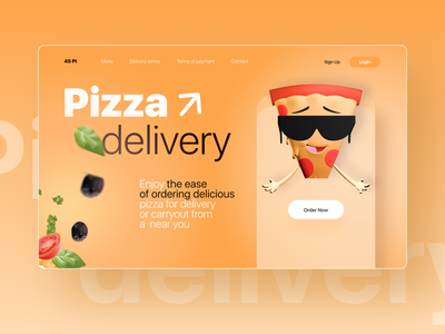 Pizza Delivery Concept food app foodie food delivery service delicious delivery pizza design web ux ui