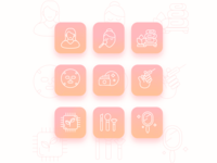 Cosmetology mini icons pack