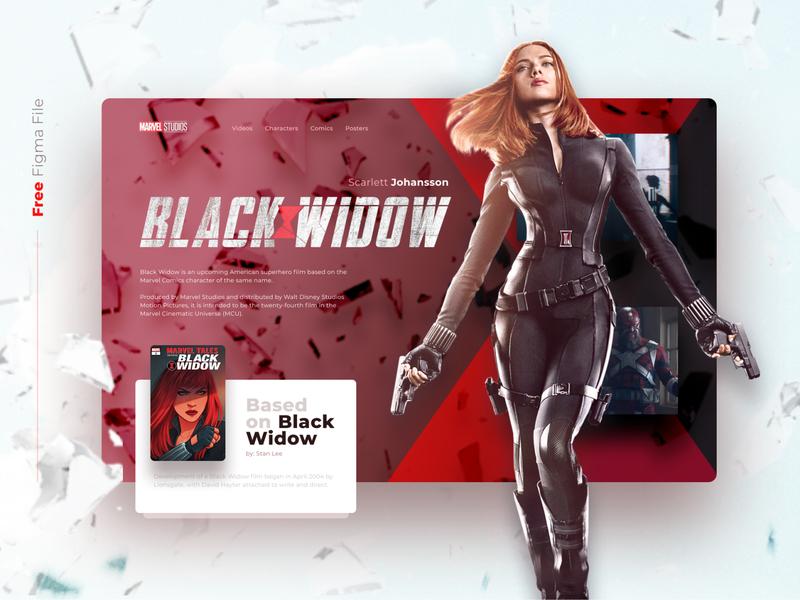 FREE ANIMATED Black widow concept