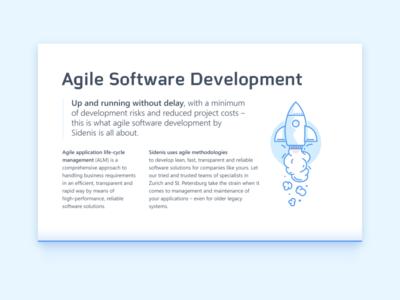 Agile Software Development spaceship agile rocket webdesign illustration vector