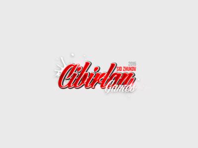 Cibirlan Games logo 3d title 3d text design animated logo logos logo graphic design logo games