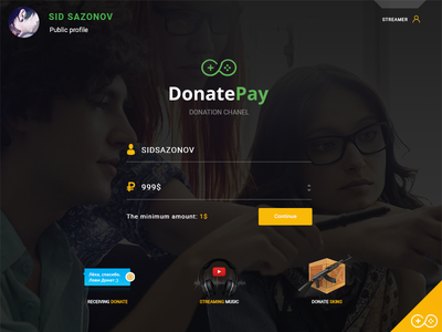 DonatePay donate design app donatepay