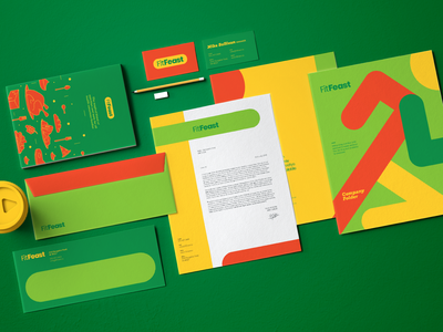 Stationery Design for FitFeast