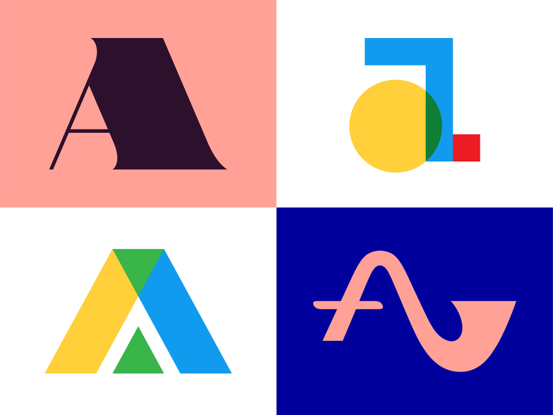 Letter A Exploration for 36 Days of Type shapes vector colorful design logotypes logodesign lettering typedesign typeface typography 36daysoftype