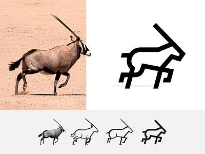 Design Simplification Exercise -  Oryx Logo logoideas dribbble behance symbol sketch logos simplicity icon illustrator graphic design logo design logo vector design minimal
