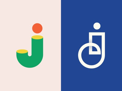 Letter J Explorations for 36daysoftype graphic design animation flat web app typography colorful ux ui minimal