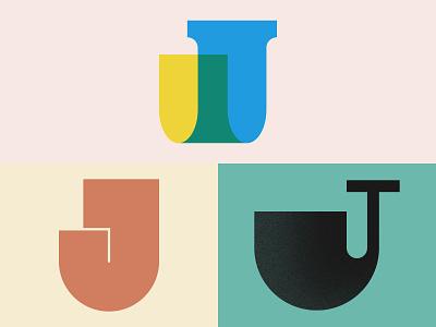 Lettermark J Explorations for 36daysoftype logo website animation flat web app icon typography ui ux