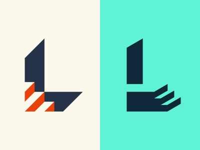 L Lettermarks - 36daysoftype 2020 logo design icon typography shapes colorful graphic design logo vector design minimal
