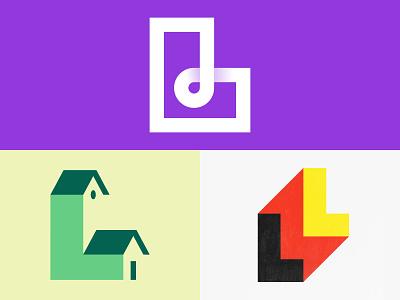 L Lettermark Concepts logoinspirations dribbble behance ux ui shapes logo design typography icon illustrator graphic design logo vector design minimal