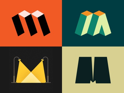 M Lettermarks for 36daysoftype logotype logoideas logoinspirations lettering icon typography shapes logo design illustrator graphic design colorful logo vector minimal