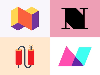 N Logomark Explorations for 36daysoftype logoideas behance dribbble logoinspiration logotype shapes typography icon illustrator colorful logo vector minimal design graphic design