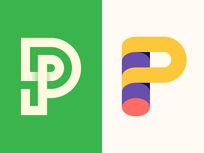 P Logomark Explorations brand design behance dribbble logonew web app ux ui icon typography illustrator graphic design colorful vector minimal