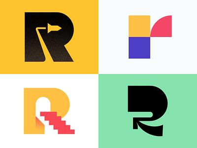 R Explorations for 36daysoftype 2020 behance logoideas photoshop logonew dribbble ui logo icon graphic design illustrator branding typography vector design minimal