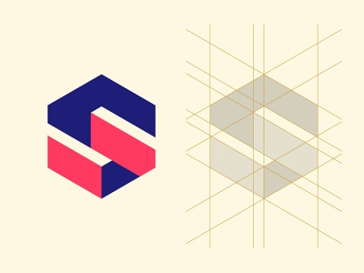 Isometric S Lettermark grid layout logoinspire behance typogaphy lettermark dribbble logo design icon typography illustrator graphic design logo vector design minimal