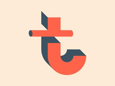 T Perspective Lettermark dribbble brand identity design brand identity brand design branding logo design shapes icon typography illustrator graphic design vector logo design minimal