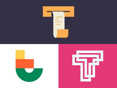 T Lettermark Explorations dribbble logoinspire logoideas logotype logos logo design logo graphic design illustrator ux ui typography vector design minimal
