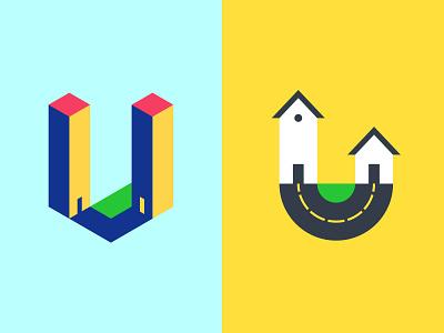 U Perspective Lettermarks logotipo logoinspire logoidea logonew behance dribbble logo design shapes illustrator graphic design typography logo vector design minimal