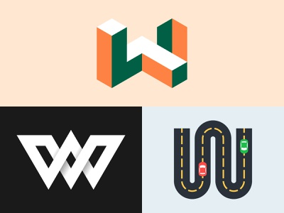 Lettermark W Explorations designinspiration design art dribbble invite dribbble behance logo design branding shapes typography colorful logo illustration vector design minimal