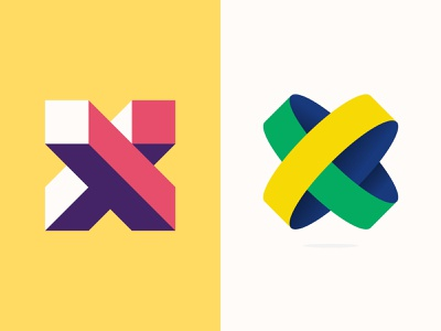 X Lettermaks for 36daysoftype logo dribbble icon shapes illustrator graphic design typography vector design minimal