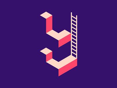 Perspective Y Lettermark logonew perspective logoideas dribbble behance ui colorful design vector shapes typography illustrator graphic design illustration minimal