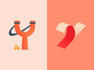 Creative Y Lettermarks design behance dribbble logo minimal logo design shapes vector branding icon colorful typography illustrator illustration graphic design