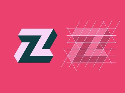 Impossible Z Lettermark minimal design vector logo logo design graphic design illustrator icon simplicity logos sketch symbol behance dribbble logoideas