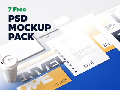7 FREE Identity Design Mockup Pack