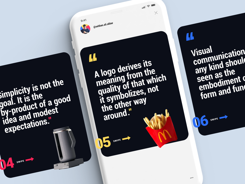 Instagram Carousel Layout Design carousel instagram template paul rand quotes paul rand type design instagram design quote typography layout design
