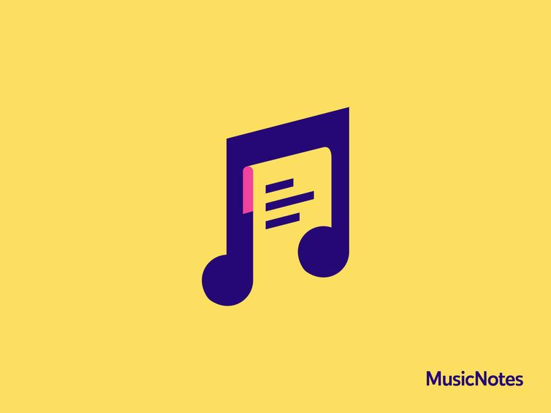 Music Notes - Logo Concept logomark iconmark design music logo
