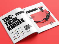 Tactical Knives Illustrative Magazine Concept