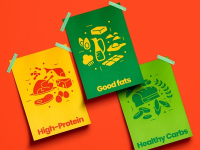 FitFeast | Health Focused Food Chain | Posters art graphic design iconography illustrator brand food icon print poster design branding design branding brand identity illustration