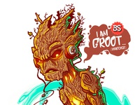 I am Groot... conceptart fantasyart cosmos surfing videogame groot guardiansofthegalaxy illustration bs bastianrestrepo