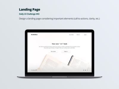 Landing Page - Bookaboo
