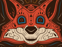 Firefox - Day of the Dead Illustration