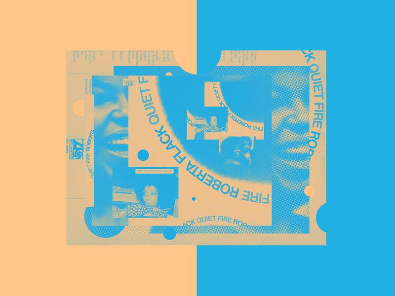 """RRP 030: Roberta Flack """"Quiet Fire"""" - 1971 exploration collage music typography explore editorial design editorial art design illustration"""