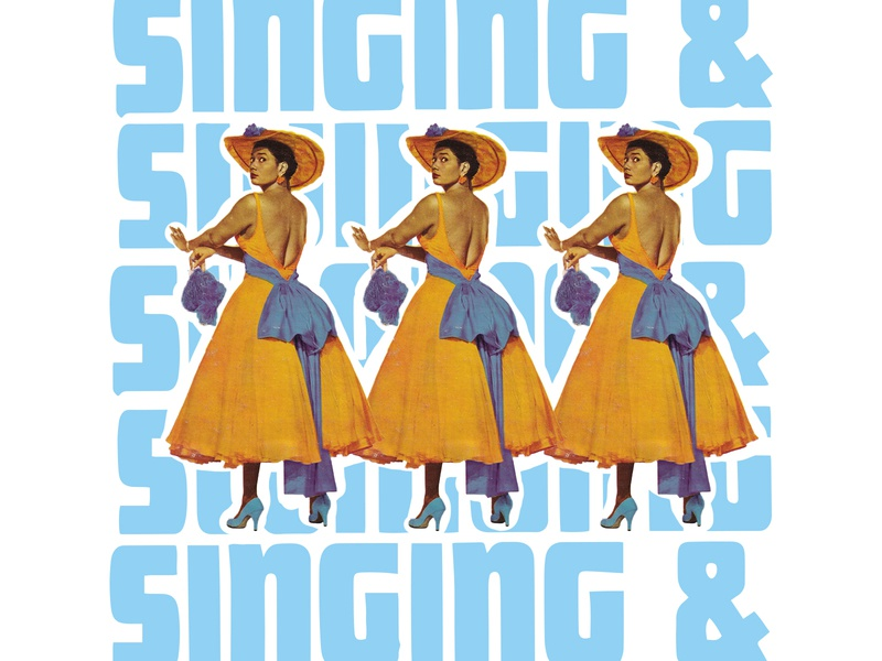 "RRP 037: Pearl Bailey ""Singing and Swinging"" - 1980 vector print exploration collage typography explore editorial design editorial art illustration design"