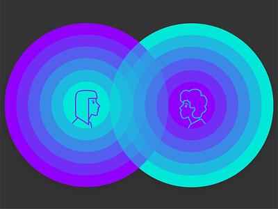 Communication Illustration languages web landing interference circles illustration